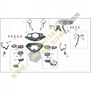 Cubre manubrio, espejos y velocimetro - Terra Z, refacciones, vento
