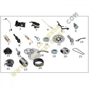 Sistema de freno delantero y trasero - Crossover250, refacciones, vento, la tienda del biker