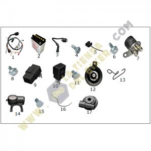 Sistema electrico - Crossover250, REFACCIONES, VENTO, la tienda del biker