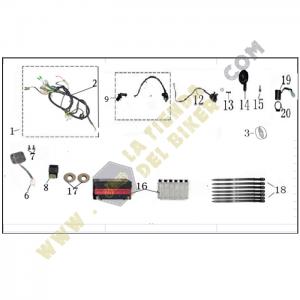 Sistema electrico - Terra Z, REFACCIONES, VENTO, la tienda del biker