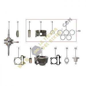 cilindro cigueñal y piston, refacciones originales, greaser, carabela, la tienda del biker