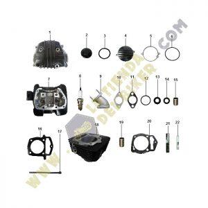 cabeza y cilindro de motor, la tienda del biker, carabale, refacciones originales